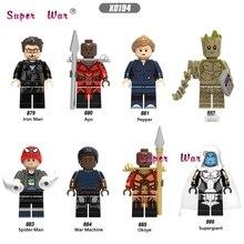 Vingadores Marvel único Infinito Guerra Supergigante Pimenta Ayo Do Homem Aranha Homem De Ferro Máquina de Guerra okoye building blocks brinquedos para crianças