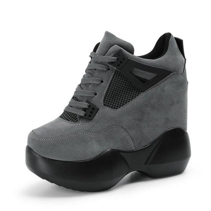 Г., Весенняя женская модная повседневная обувь на платформе женские кроссовки на толстой подошве, белые туфли дышащие женские парусиновые туфли на танкетке - Цвет: Color 4