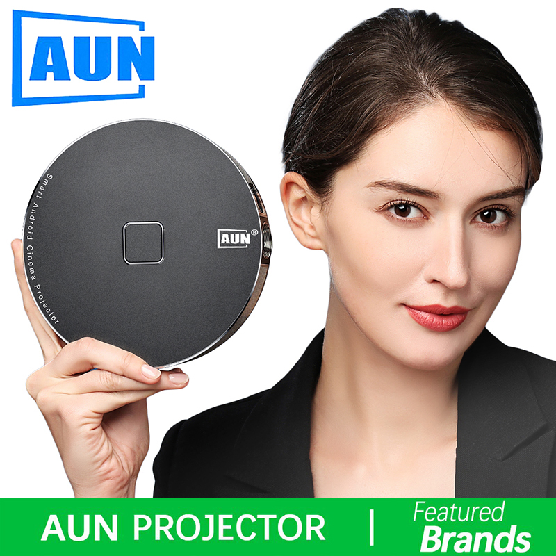 Brand AUN 3D Projector 1280x720 Resolution 12000mAH Battery Android WIFI MINI Projector for Home Theater office