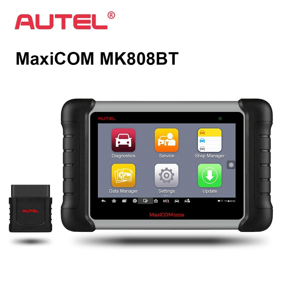 Autel MK808BT автомобиля диагностический инструмент 7-дюймовый Экран OBD2 сканер Диагностика Функции EPB/ИММО/DPF/SAS/TMPS лучше MX808 MK808