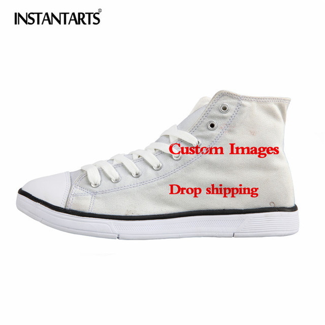 INSTANTARTS Hot Animal Custom Image Print High Top Canvas Shoes Men Vulcanize Shoes Cool Super Shoes Boy Casual High-top Sneaker