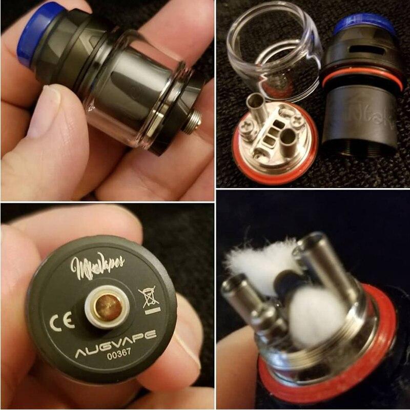Augvape admission RTA réservoir 4.2 ml 24mm simple bobine Max capacité de jus étanche 510 fil atomiseur de cigarettes électroniques RTA - 4