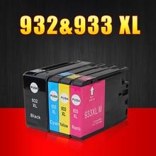 4 unids compatible cartucho de tinta para hp 932 xl 933 xl para hp officejet 6100 6600 6700 impresoras con la última viruta