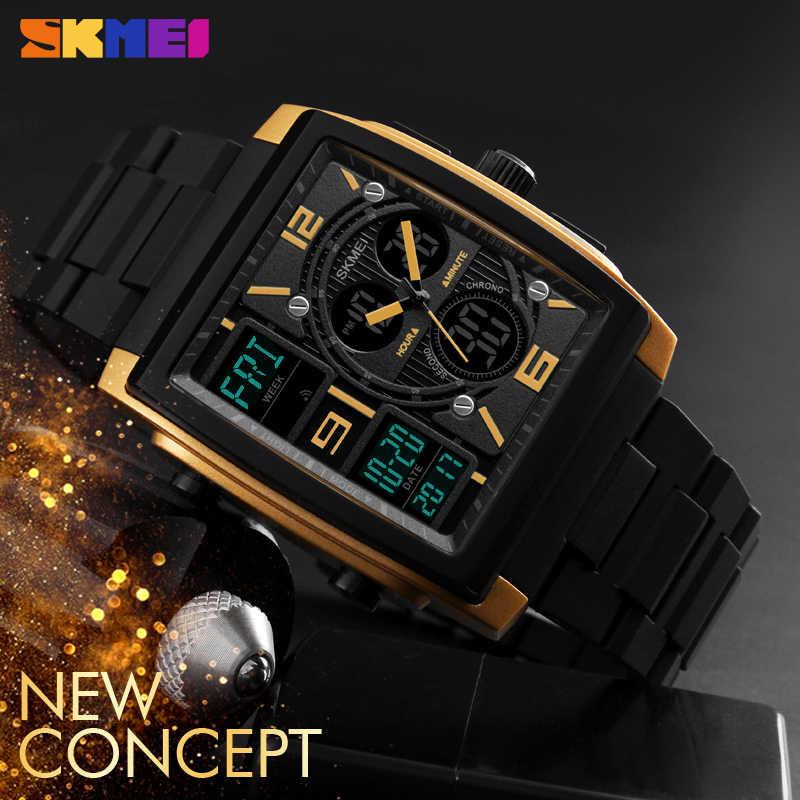 5b62fb7ef47c Azul del reloj SKMEI 1274 reloj Digital impermeable del deporte reloj  hombres reloj de pulsera analógico