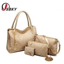 eee7995902 Women 4 Bag Set New Mother Handbag Brand Designer Women Bag Top-Handle Bags