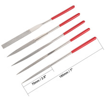 UXCELL Newest 5PCS 5mm x 180mm Diamond Needle File Set for Metal Glass Stone, Shape Steel, Glass, Tile, Stone