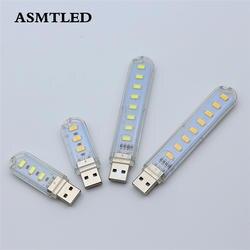 Шт. 1 шт. мини 3 светодио дный LED s светодио дный 8 LED s USB 5 светодио дный светодиодный ночник настольная книга лампа для чтения Кемпинг лампы