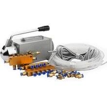 Un ensemble pompe à huile lubrifiante actionné à la main Cnc routeur pompe de lubrification électromagnétique lubrificateur corps en acier inoxydable