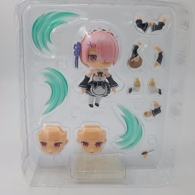 Life In A Different World From Zero Ram Nendoroid 732 Anime PVC Action Figures Collectible Model Toy Ram