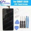 Display lcd + montagem da tela de toque cubot s550 100% lcd original digitador de vidro substituição do painel para cubot s550 telefone + ferramentas