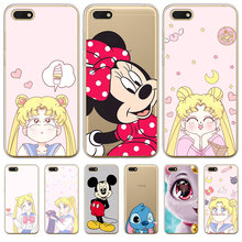 cartoon phone case cover For Huawei P8 P9 P10 P20 P30 Lite Plus Pro P Smart 2017 Mate 9 10 20 Honor 6A 6X 7 7X 7C Sailor Moon(China)