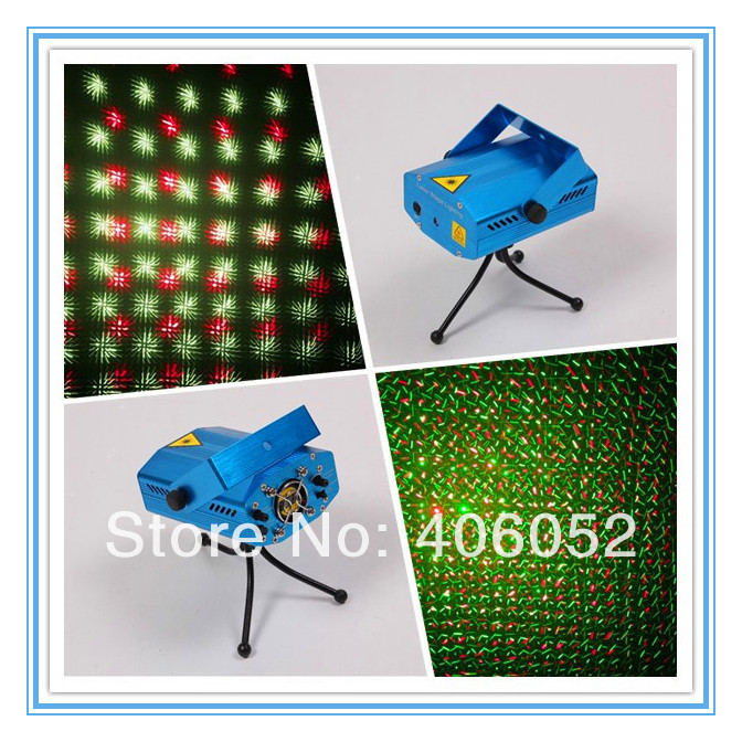 10pcs/lot Mini Red & Green Moving Party Disco DJ Stage Laser Light Projector Lighting AC 110-240V 50-60Hz with Tripod