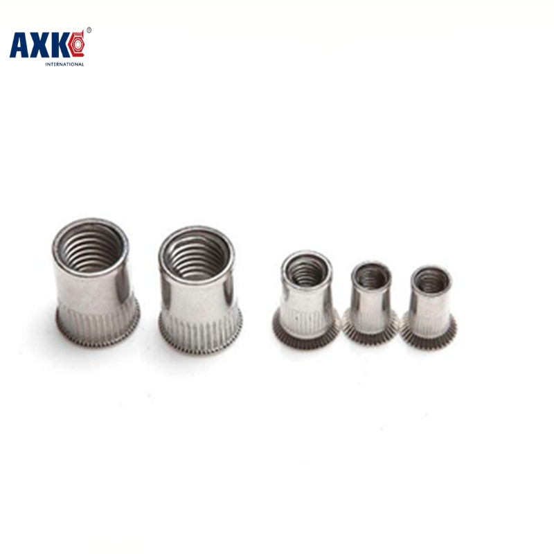 Decor Wood Furniture New Sale Stainless Steel Rod 2018 Axk 100pcs M8 Metric Thread 304 Stainless Steel Rivet Nut Rivnut Inserts
