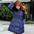 2017 Fashion Down Cotton Winter Jacket Women Real Fur Hooded Zipper Slim Thick Warm Women Parka Coats Long 90% Duck Down Jacket