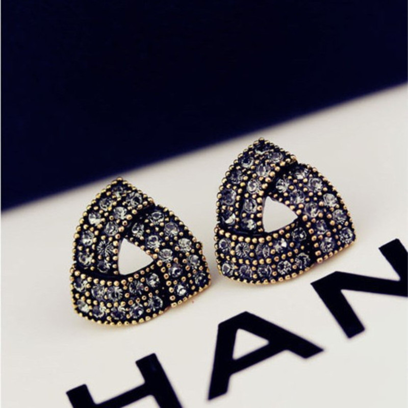 New Arrival Earrings Accessories Vintage Rhinestone Stud Earrings For Women Girls Wedding Factory Wholesale&Retail