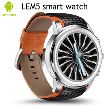 LEM5 Android 5.1 MTK6580 1GB+8GB Bluetooth Smart Watch Phone support SIM Card 3G Wifi GPS Smartwatch for huawei Samsung Phone