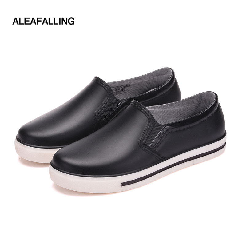 Aleafalling Flat Woman Rain Boots Ladies Ankle Short Rain Shoes Cute Resistant Water Rubber Boots Round Toe Women Boots W207