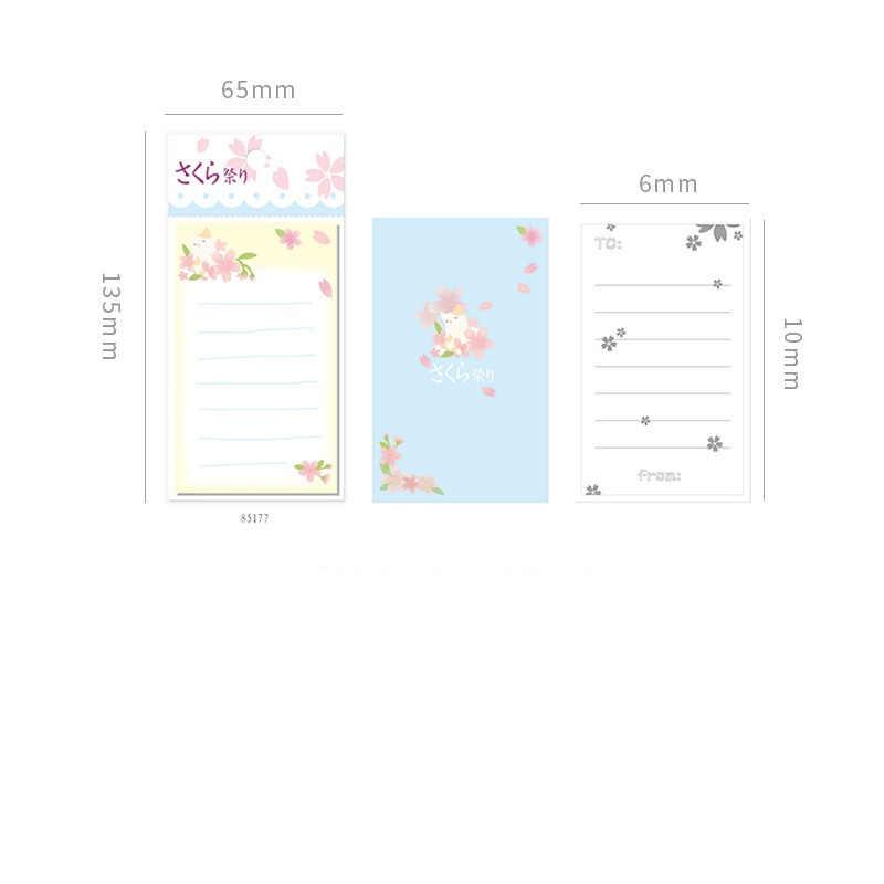 4 шт. японская Сакура блокнот милый Шиба собака сумо цветок блокнот Примечание открытка канцелярия Школьные принадлежности A6166