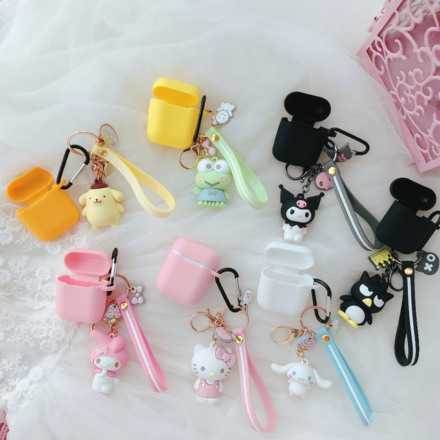 fashion cartoon animal Sanrio Doll funny Soft Silicone Case For Apple Airpods Shockproof Cover For Apple AirPods Earphone case