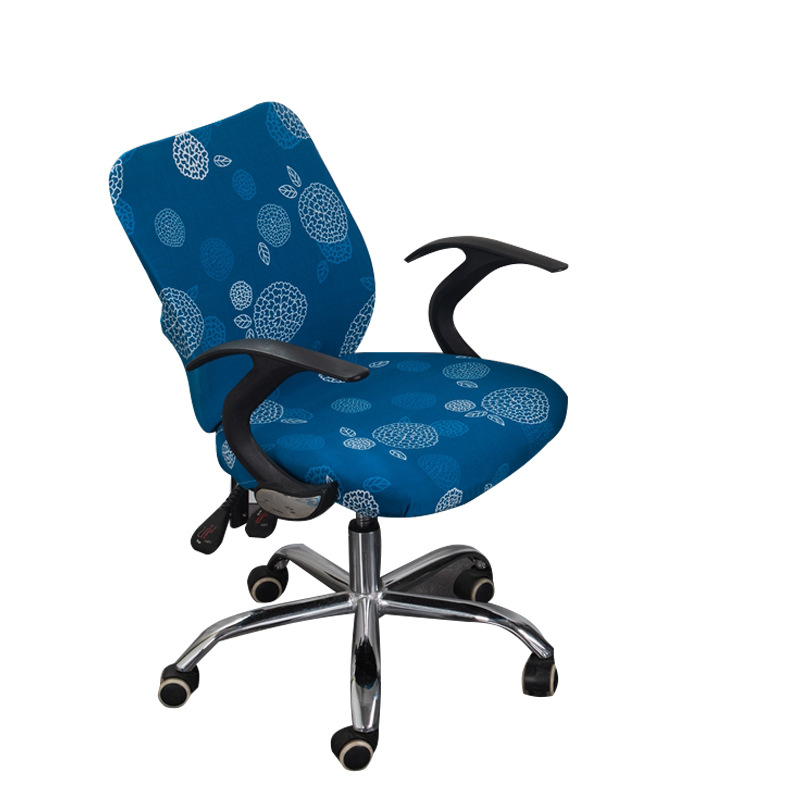 Smooth Spandex Office Computer Chair Cover Fit Well Stretch Elastic Armchair Seat Anti-dirty Swivel Protective Case