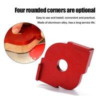 2pcs Half Round Corner Radius Quick Jig Positioning Template R angle Locator Aluminum Alloy Engraving Machine for Woodworking