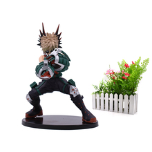 лучшая цена Anime My Hero Academia Bakugo Katsuki Midoriya Izuku Cartoon Model Doll PVC Action Figure Toy for Children Collection Gift