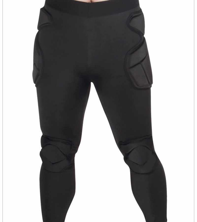 2018 мужские профессиональные футбольные Вратарские штаны EVA губки тонкие обтягивающие футбольные Вратарские спортивные тренировочные лосины