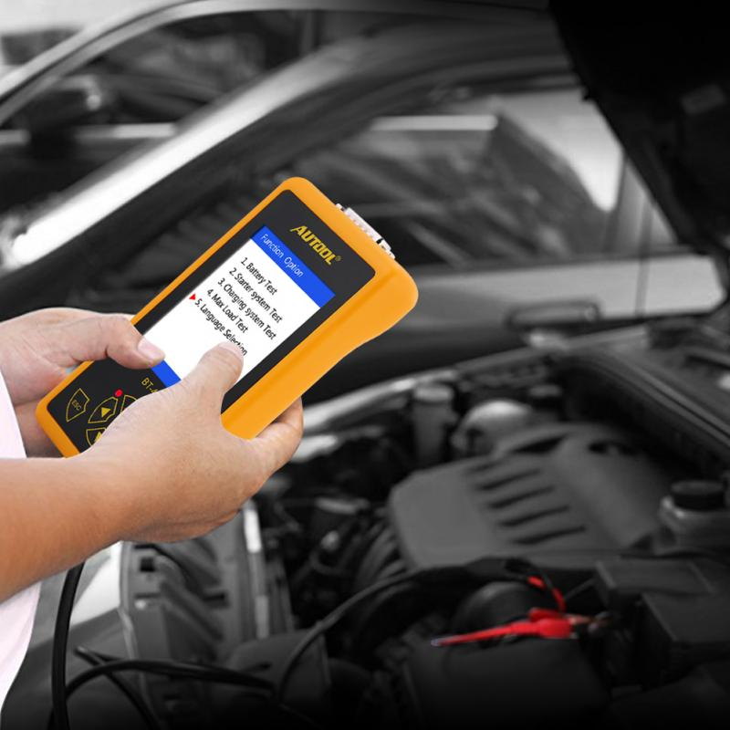 4 Inch TFT Colorful Display Car Battery Tester Analyzer for 12V Vehicle 24V Heavy Duty Trucks Diagnostic Tool Car Battery Tester vehicle charging system analyzer battery alternator tester car vehicle battery tester diagnostic 12v