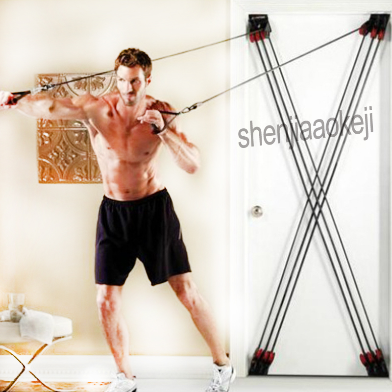 Fitness Resistance Band X-type Pull Rope All-round Rally Door Fitness Resistance Rope Tension Training Belt Door Resistance Band