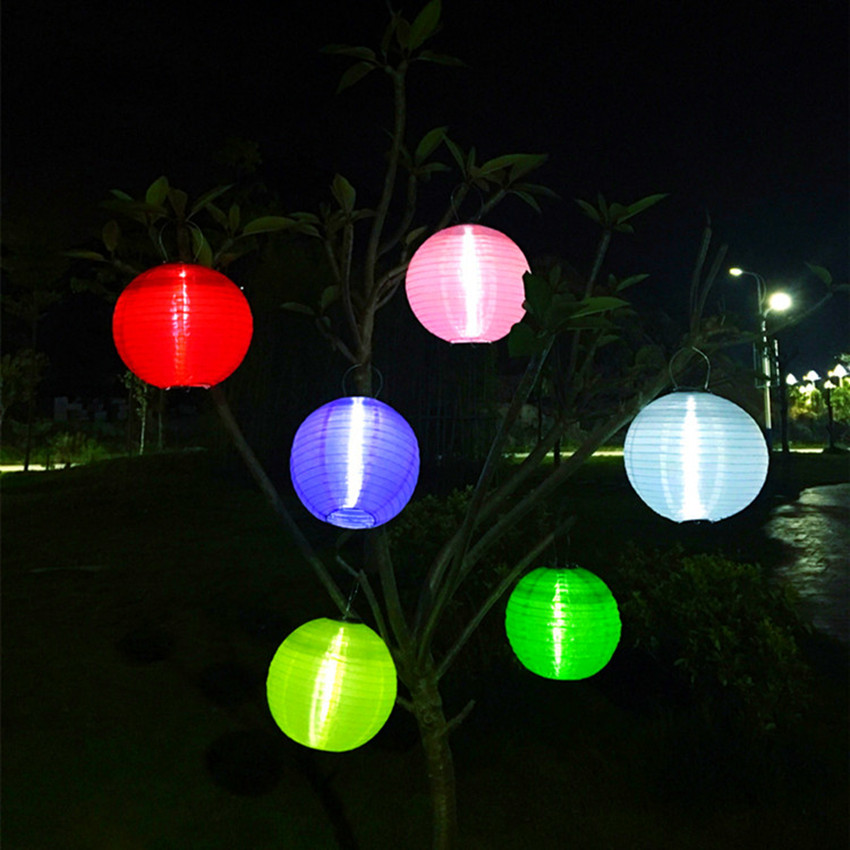 Homeampgarden Outdoor Lantern Solar Powered Tree Lantern Lamp LED Bulbs Light For Party Holiday