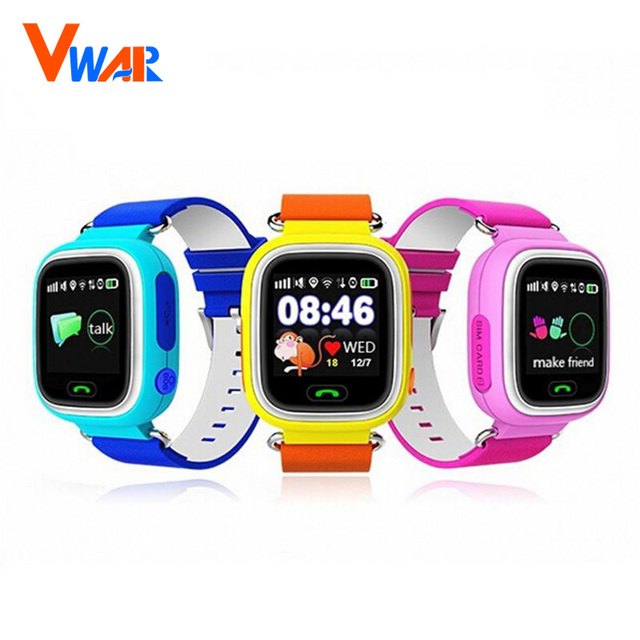 Gps q90 touch screen wifi smart watch crianças chamada sos localizador dispositivo de posicionamento rastreador kid safe anti perdido lembrete