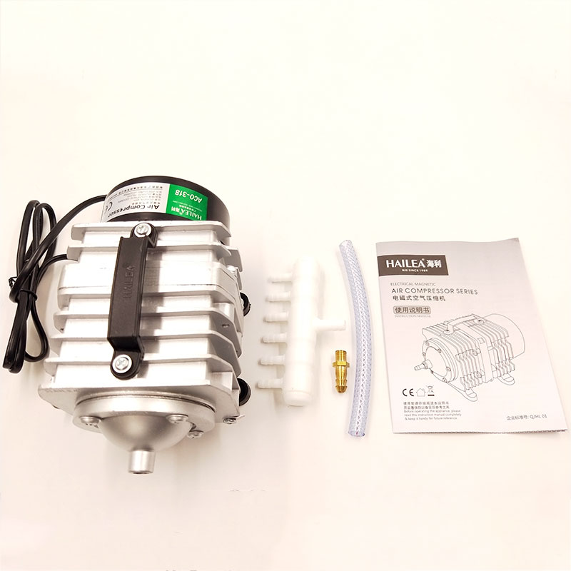 Air compressor pump HAILEA ACO-318 CE 45W 220V 50HZ for <font><b>laser</b></font> <font><b>engraver</b></font> cutter <font><b>machine</b></font> 2030 4040 <font><b>4060</b></font> desktop mini high quality image