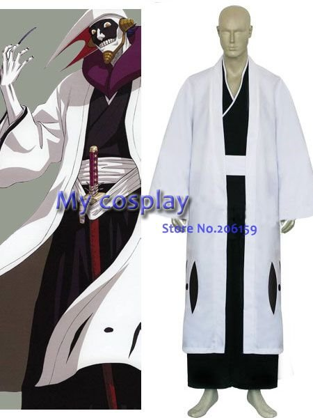 Anime Bleach Cosplay - Bleach 12th Division Captain Kurotsuchi Mayuri Best costume for Halloween/Cosplay party Freeshipping