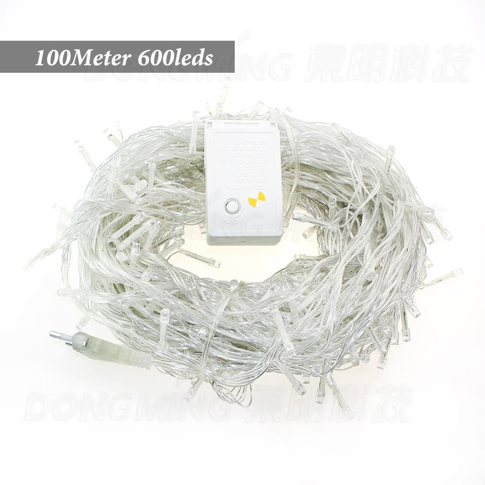 Best price 4pcs LED Christmas Light 100M 600Leds AC220V 42W 9colors RGB white Led String Light For Christmas Tree Lights