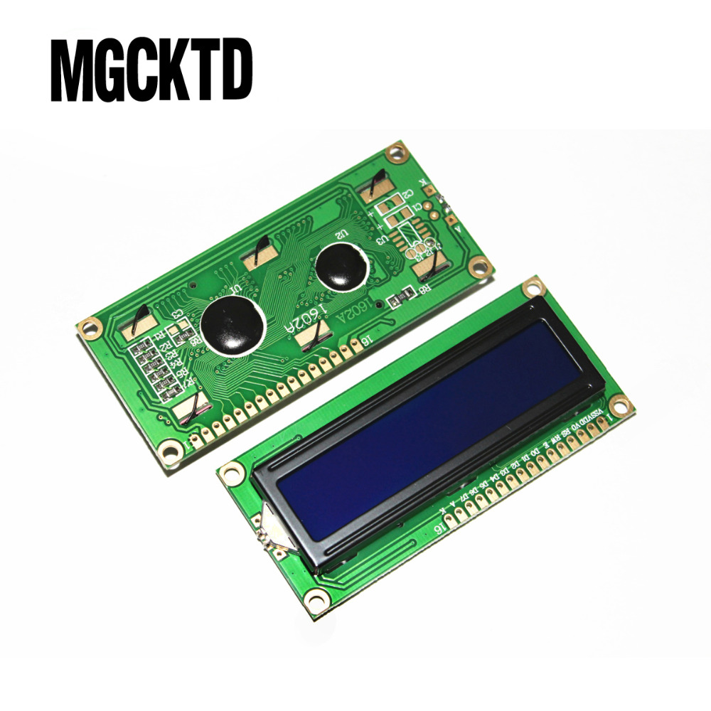 5pcs/lot New Character LCD Module Display LCM 1602 LCD1602 16X2 HD44780 Blue Blacklight