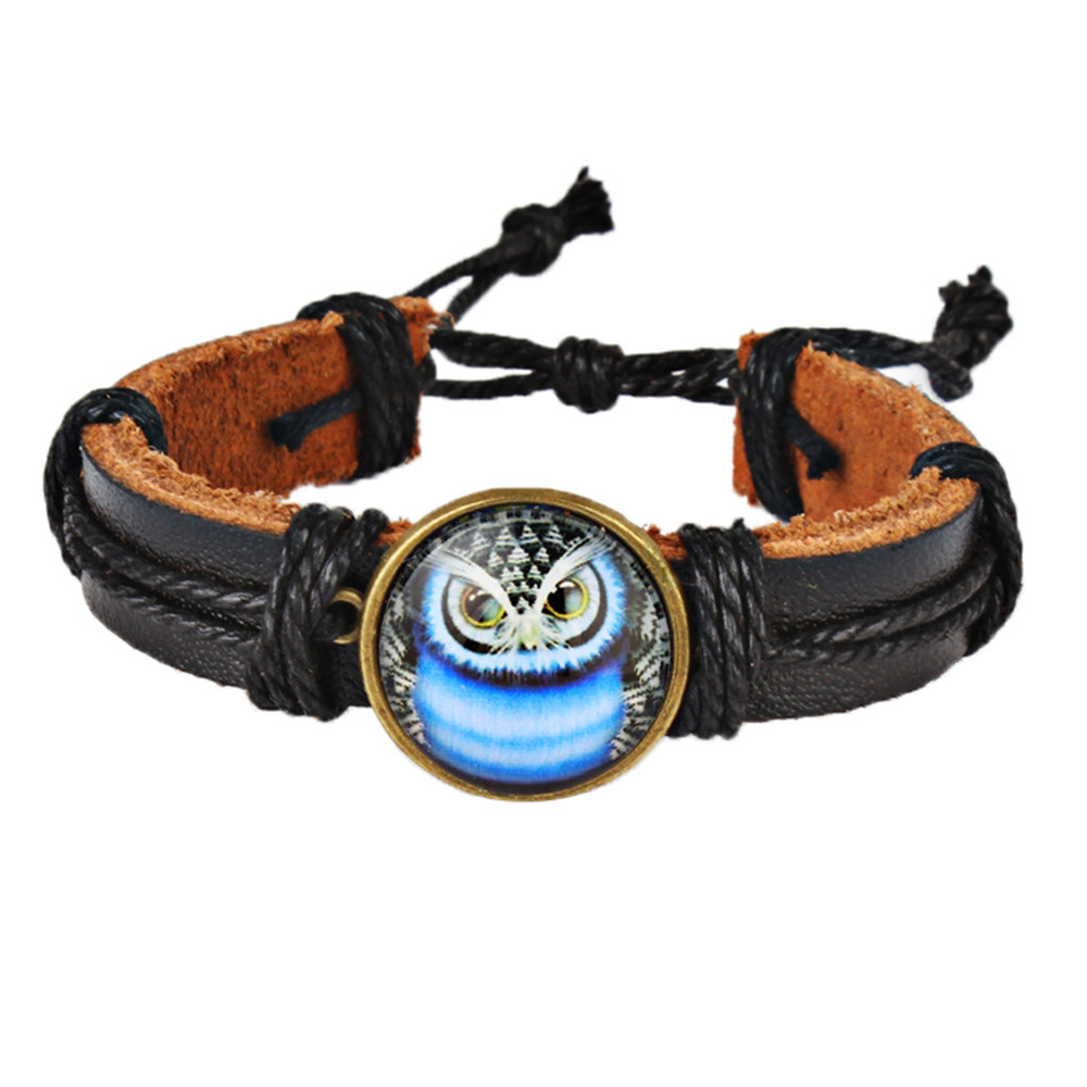 watch strap Fashion Neutral Owl Braid Band Hemp Rope Bracelet Wrist Watch Band Strap relogio masculino18Jan12