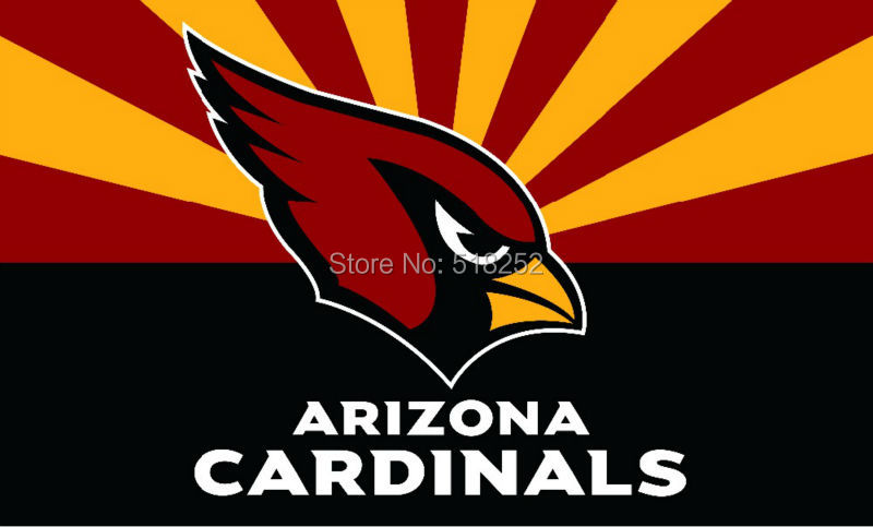 Arizona Cardinals with new style Flag 3x5 FT NFL150X90CM Banner 100D Polyester Custom flag grommets 6038, free shipping