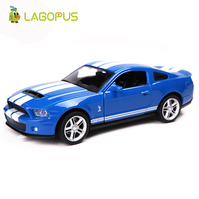 High Simulation 1 36 Mustang Gt Alloy Pull Back Model Cars Two Door