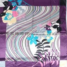 Large Square Silk Scarf Printed