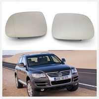 Pair /2 pcs For VW Touareg 2007 2008 2009 2010 Car Styling Door Side Mirror Glass Heated