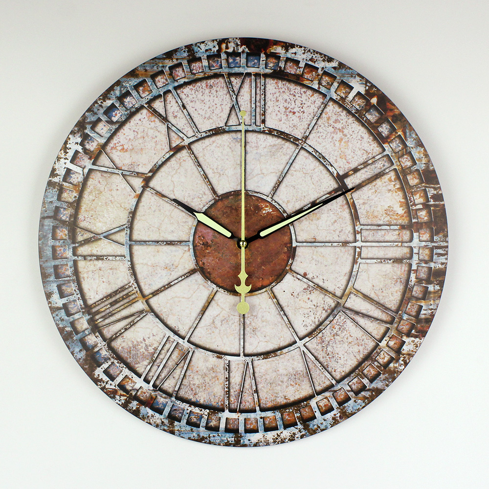 24facd44da12 reloj de pared decorativo Diseño moderno Garantía 3 años mudo reloj pared  grande Shabby Chic adornos