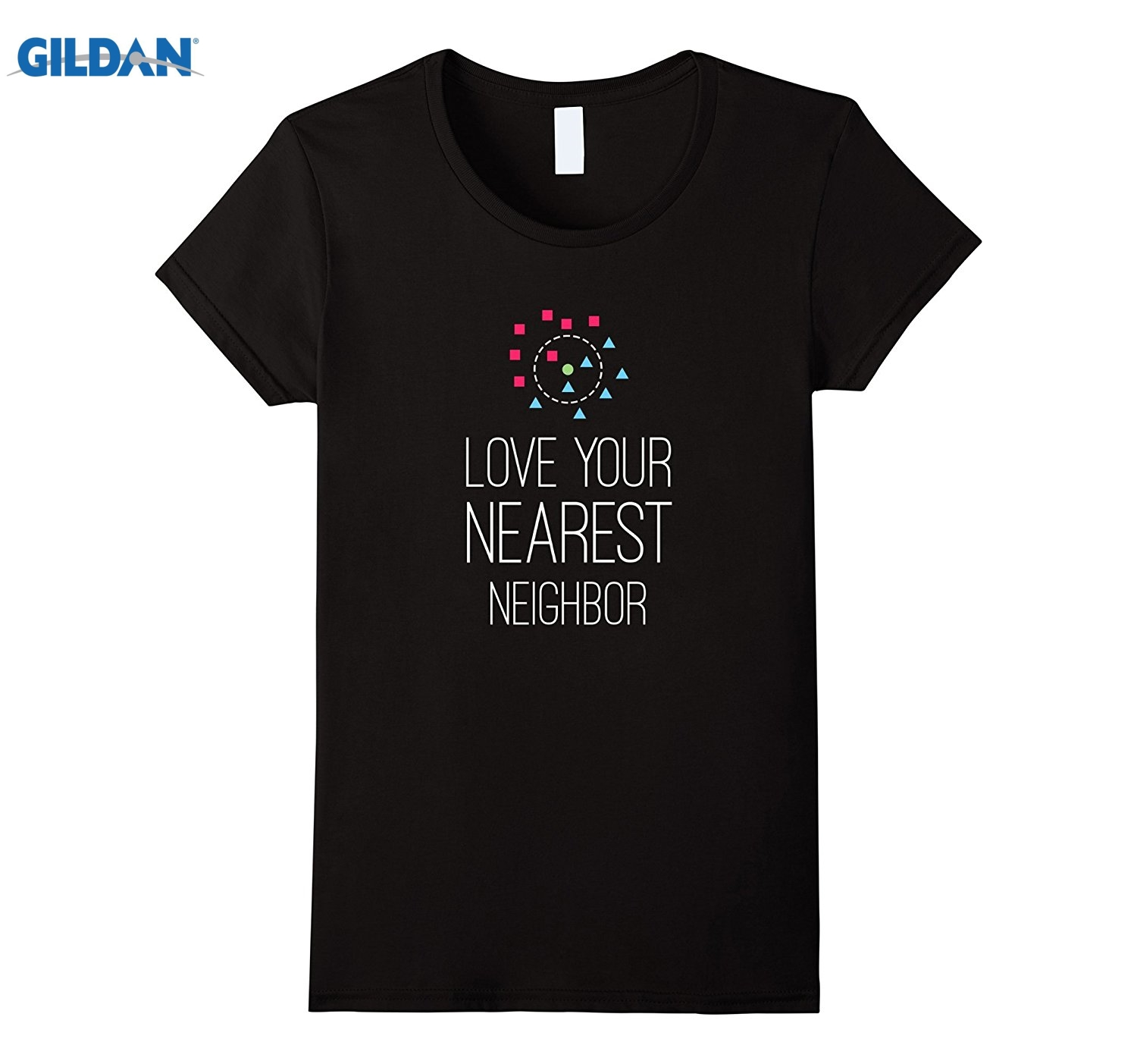 GILDAN Machine Learning Shirt, Love your Nearest Neighbor, Math glasses Womens T-shirt ...