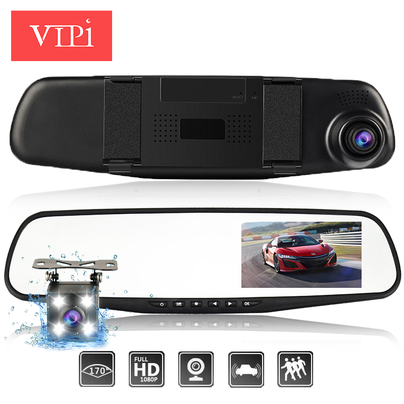 Dual Lens Car font b Camera b font Rearview Mirror Auto DVRs Cars DVR Full HD1080P