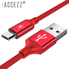 !ACCEZZ USB Charging Sync Data Cable Micro For Xiaomi Redmi Note 4 4X Charger Cord Line Samsung S6 S7 Edge Charge Cables