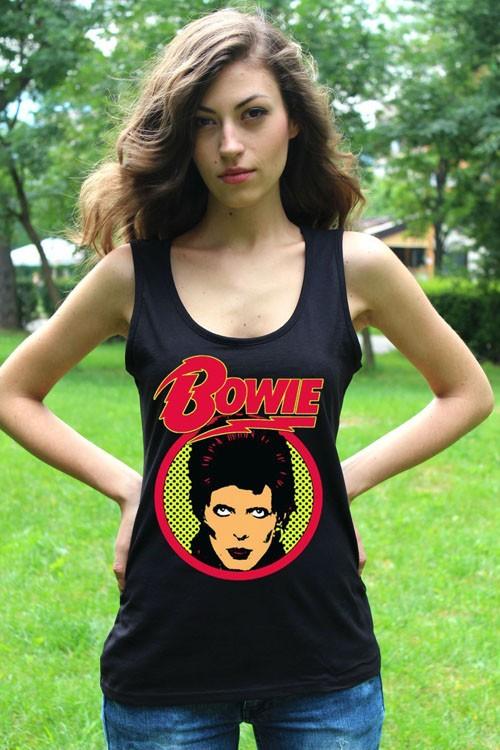 David Bowie 2 Tank Top Lady White New Vest Women Rock Band Shirt4