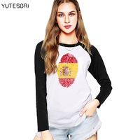Vogue Spain Clothing For Women Spanish Flag Pattern 3D T Shirt Female Espanha T Shirt Das