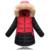 Jaqueta gola de pele das crianças Meninas longa seção da versão Coreana do genuíno grande virgem modelos de inverno de espessura