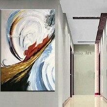 Лучший!  Бесплатная Доставка Home Decor Wall art picture Handpainted Абстрактные Картины Маслом на Холсте