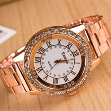 2016 Marca de Lujo de Oro Relojes Vestido de Las Mujeres Relojes Señoras Reloj de Cuarzo Analógico Casual Relojes Deportivos de acero Inoxidable AC024