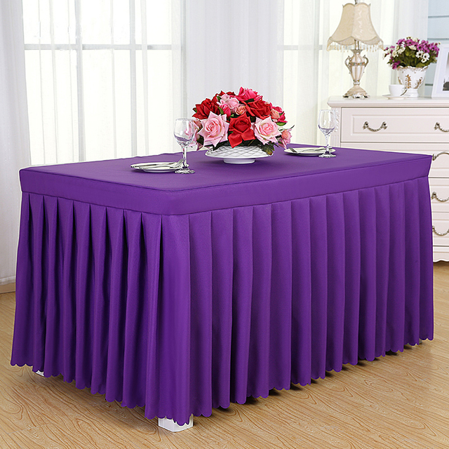 ROMANZO Solid Color Fabric Rectangle Conference Table Cover Office Tablecloth Booth Setting Cloth Table Cloth Free & ROMANZO Solid Color Fabric Rectangle Conference Table Cover Office ...
